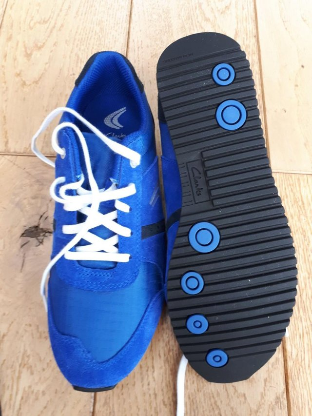 Image 3 of Clarks Size 4 G 37 Super Run Jnr Blue trainers brand new