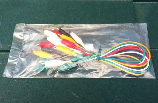 Image 2 of 5 Pairs of Test Leads with Crocodile Clips at Both Ends