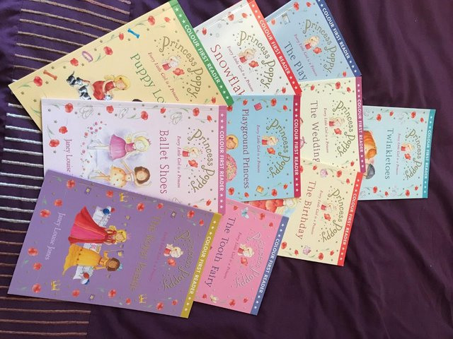 Preview of the first image of Ten early reader Princess Poppy books.