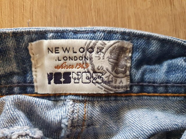 Preview of the first image of Ladies short denim dungarees - New Look.