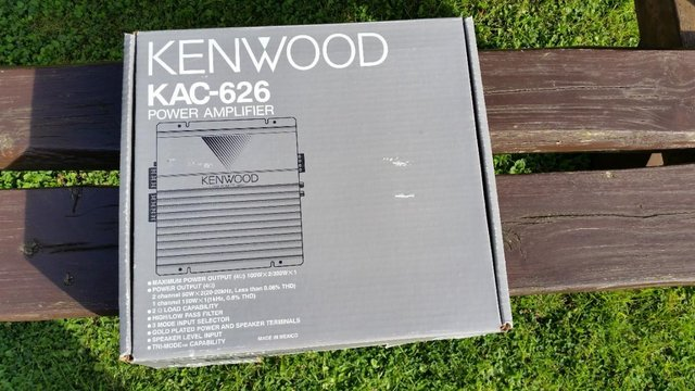 Preview of the first image of Kenwood BIG amp. KAC626.