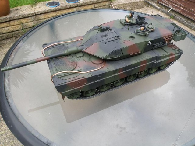 Preview of the first image of tamiya leopard 2A6 1/16 scale rc tank.