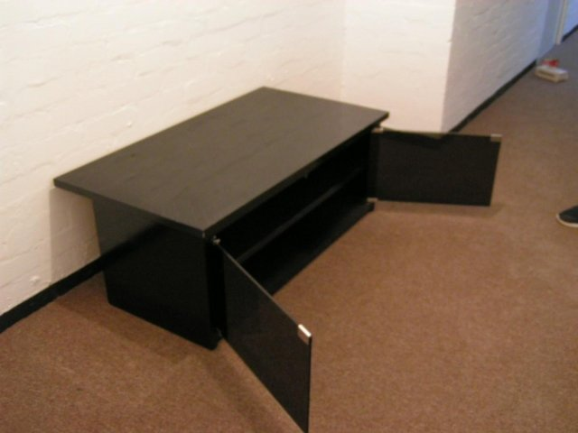 Preview of the first image of BLACK TV/AUDIO CABINET.