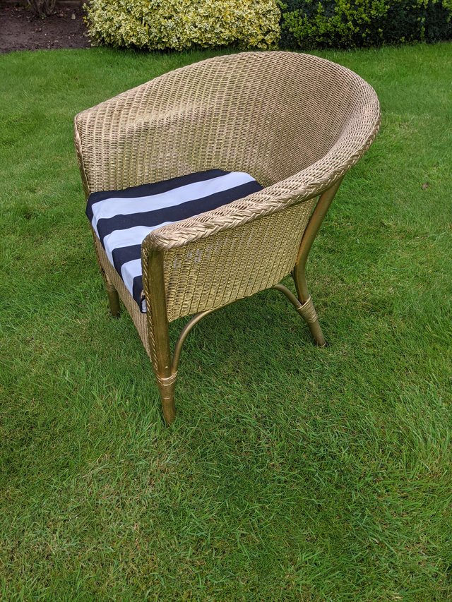 Preview of the first image of Genuine Lloyd Loom armchair.