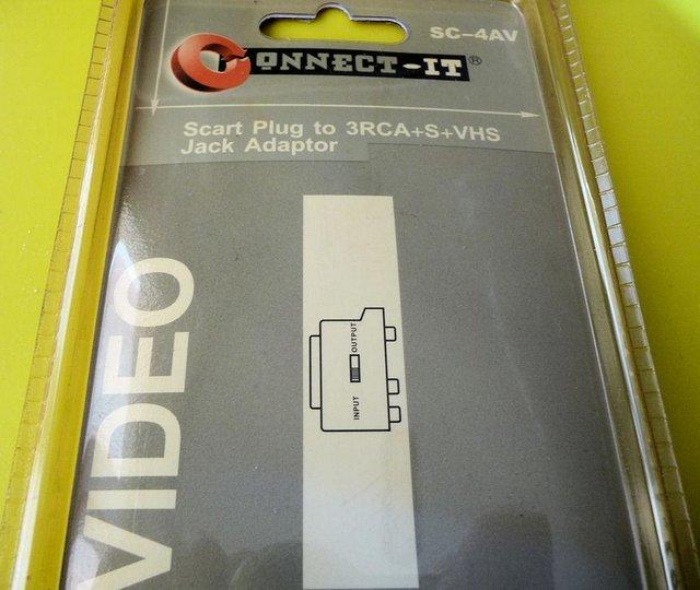 Image 2 of Scart Plug to 3RCA + S + VHS Jack Adaptor ( New )