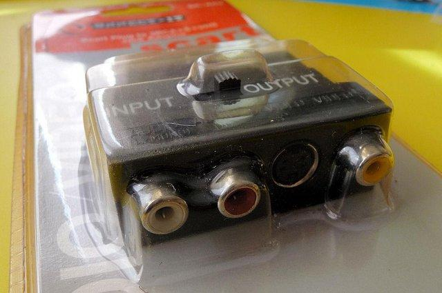 Image 3 of Scart Plug to 3RCA + S + VHS Jack Adaptor ( New )