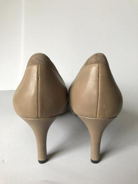 Image 3 of Womens Rockport Taupe Suede & Leather Heel Shoes size 4.5
