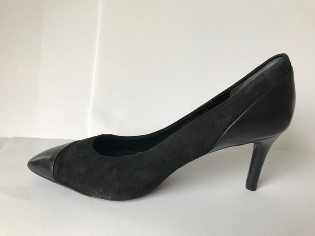 Image 2 of Womens Rockport Black Suede and Leather Heel Shoes