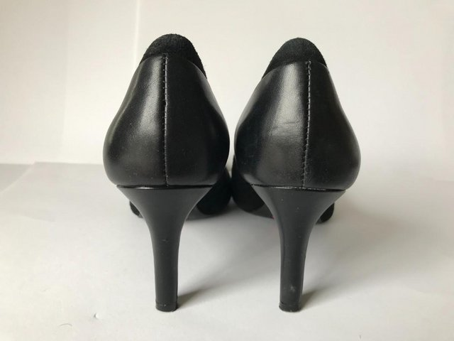 Image 3 of Womens Rockport Black Suede and Leather Heel Shoes