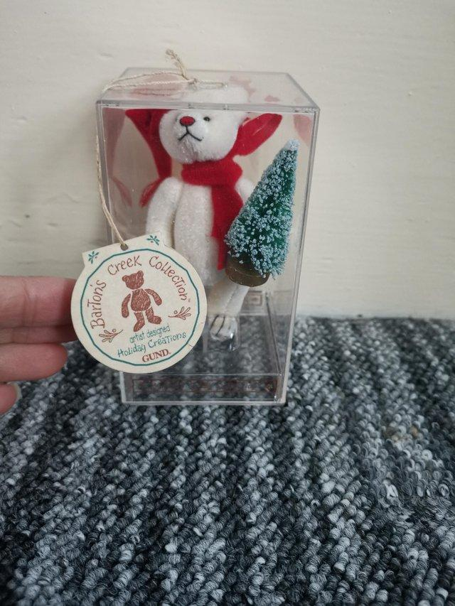 Preview of the first image of Barton Creek Collection bear Christmas.