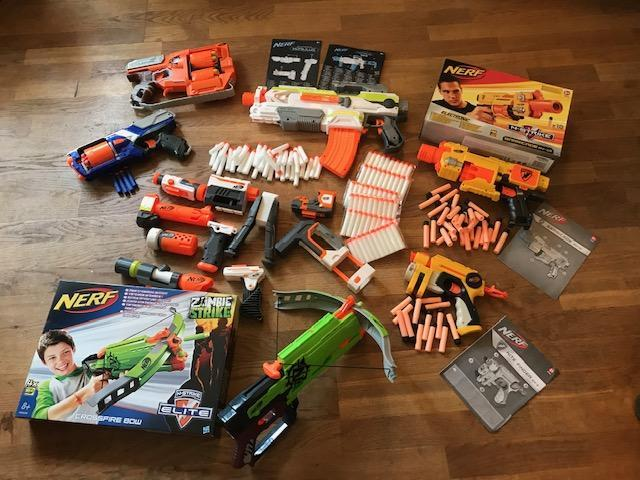 Preview of the first image of A Huge Collection Of Nerf Guns And Bullets.