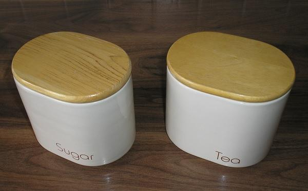 Preview of the first image of Rayware 'Modena' Tea and Sugar Storage - nice gift.