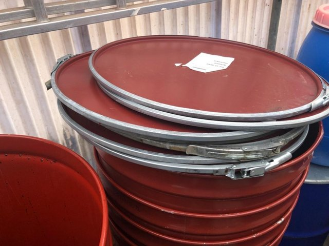 Image 3 of Steel clamp lid feed bins