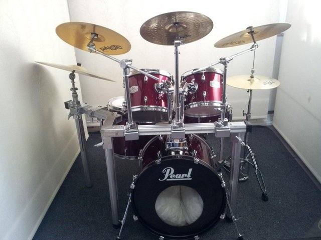 Preview of the first image of Retired drum teacher has several Pearl drum kits for sale..