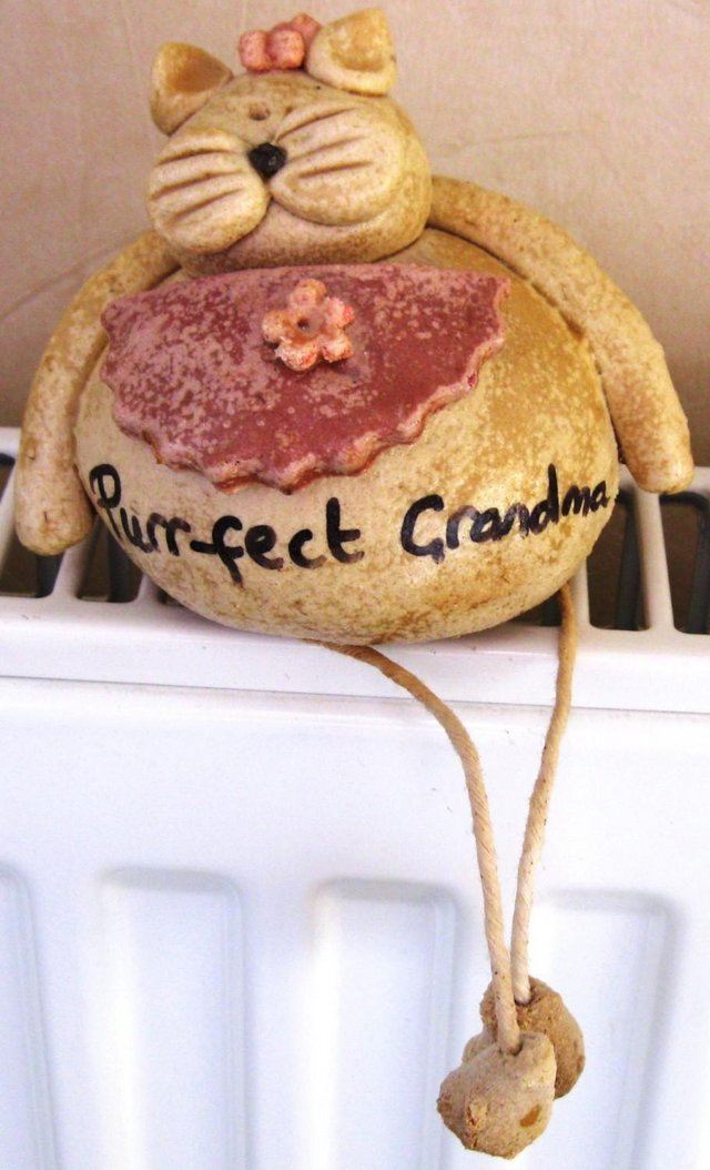 Preview of the first image of Novelty Grandma cat ornament.