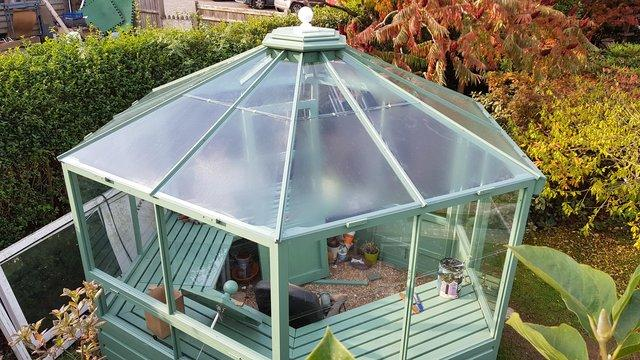 Preview of the first image of A gorgeous one off hexagonal Greenhouse.
