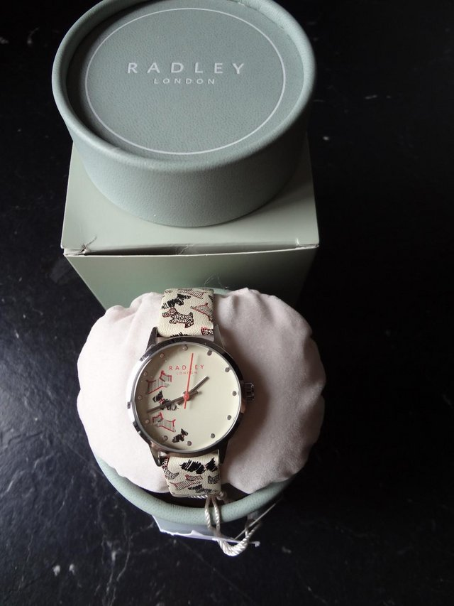 Preview of the first image of Radley Ladies Fleet Street Cream Leather Strap Watch.