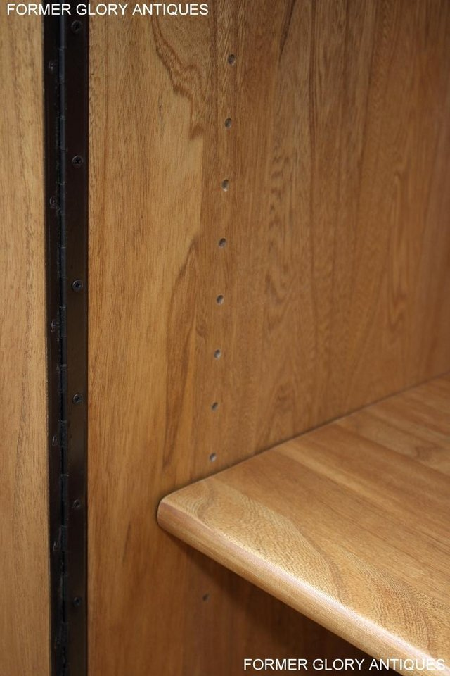 Image 82 of ERCOL LIGHT ELM WINDSOR HIGH SIDEBOARD DRESSER BASE CABINET
