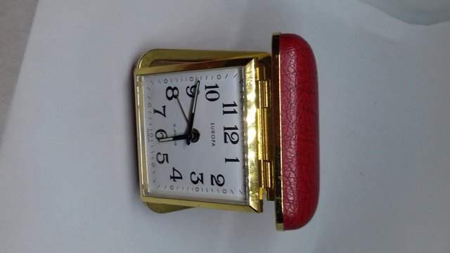 Preview of the first image of Europa 2 Jewel Red Case Travel Clock.