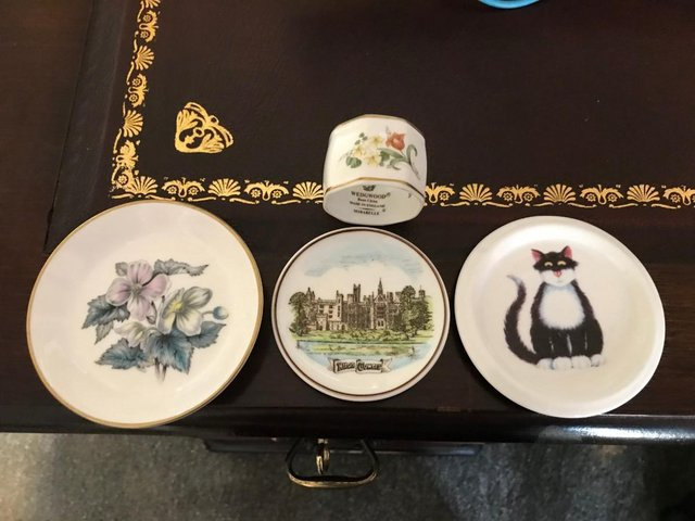 Image 2 of Ornament BUNDLE; Rabbits, Cats; Wedgewood dishes