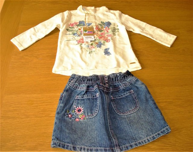 Image 2 of 37 Girls Dresses, Skirts, Tops, Trousers, Fancy Butterfly Dr