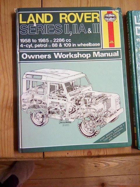 Preview of the first image of LAND ROVER series  1, 2a and 3 , HAYNES MANUAL.