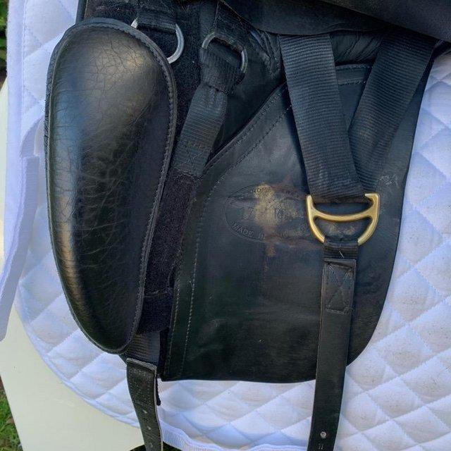 Image 5 of Kent and Masters 17 inch high wither dressage saddle