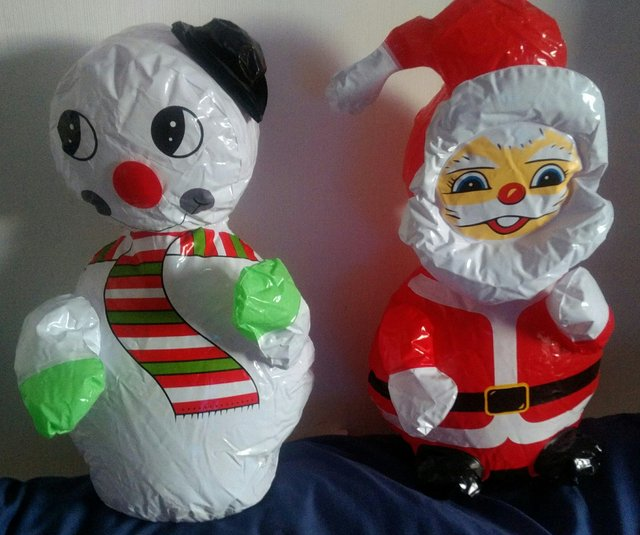 Image 2 of Christmas Ornaments Blow up Santa and Snowman