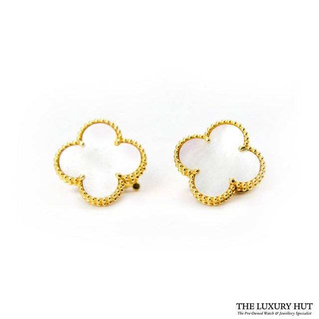 Preview of the first image of VAN CLEEF & ARPELS MAGIC ALHAMBRA YELLOW GOLD & MOP EARRINGS.