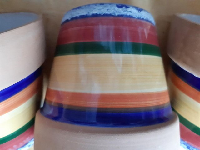 Image 9 of COLOURFUL PLANT POT SET ideal for window sill
