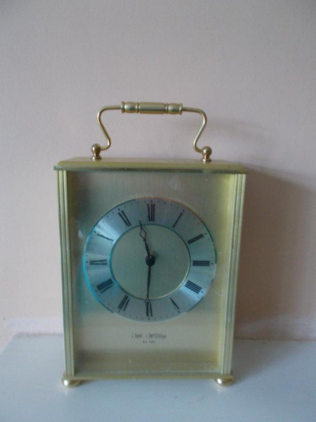 Image 2 of Wm Widdop carriage clock in gold effect