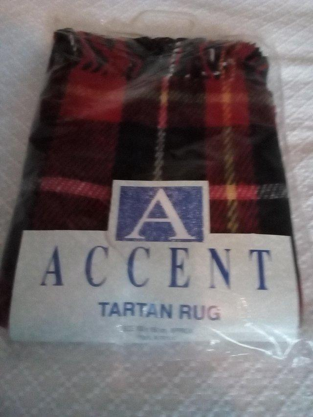 Preview of the first image of Tartan travel rug/blanket.