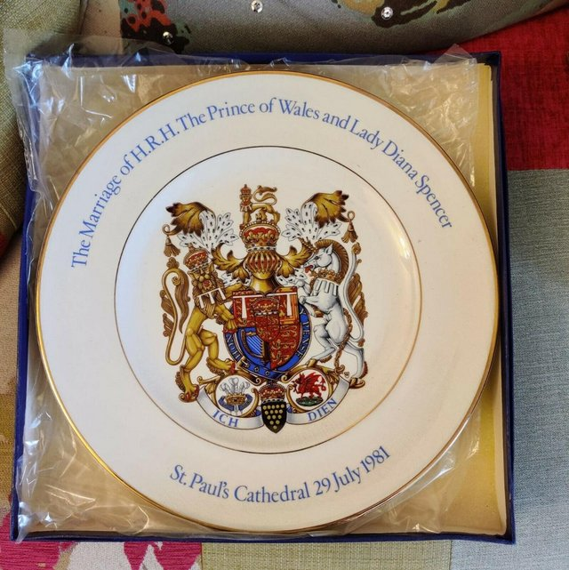 Preview of the first image of Charles & Diana Marriage Commemorative Plate.