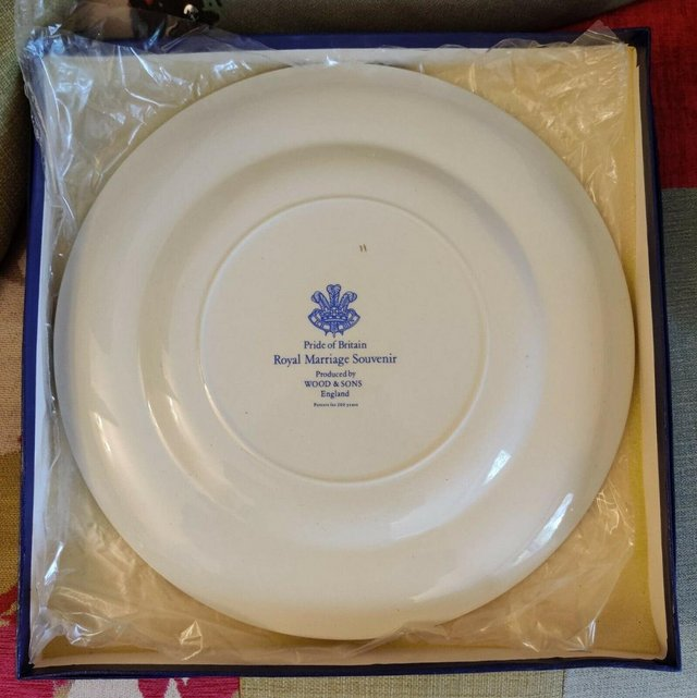 Image 2 of Charles & Diana Marriage Commemorative Plate