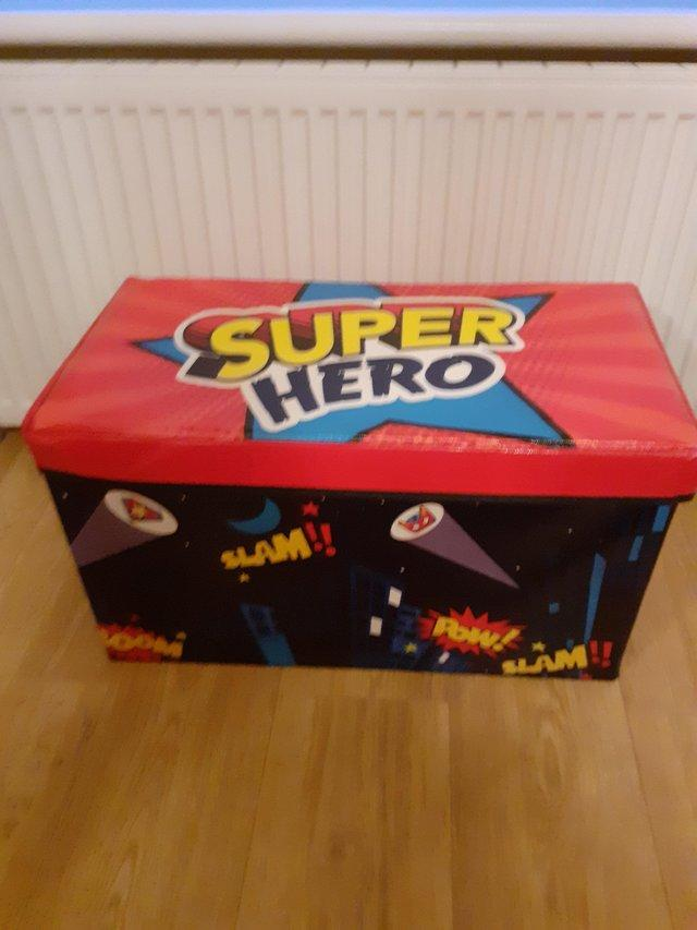 Preview of the first image of BOYS Super Hero Toy Box Including Toys.