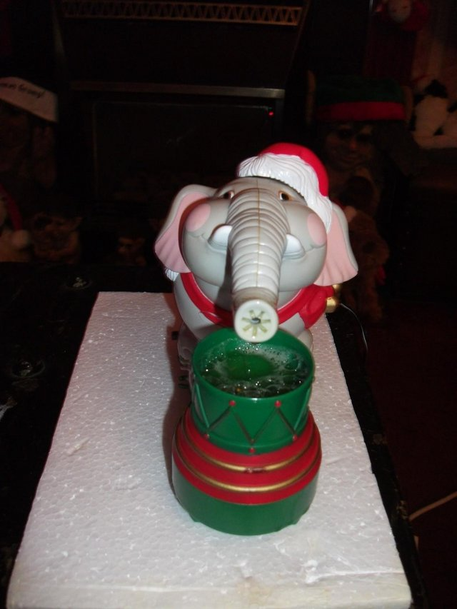 Image 2 of Edgar The Bubble Blowing Christmas Elephant