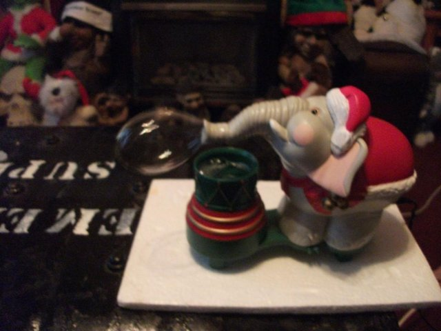 Image 5 of Edgar The Bubble Blowing Christmas Elephant