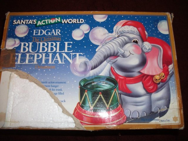 Image 7 of Edgar The Bubble Blowing Christmas Elephant