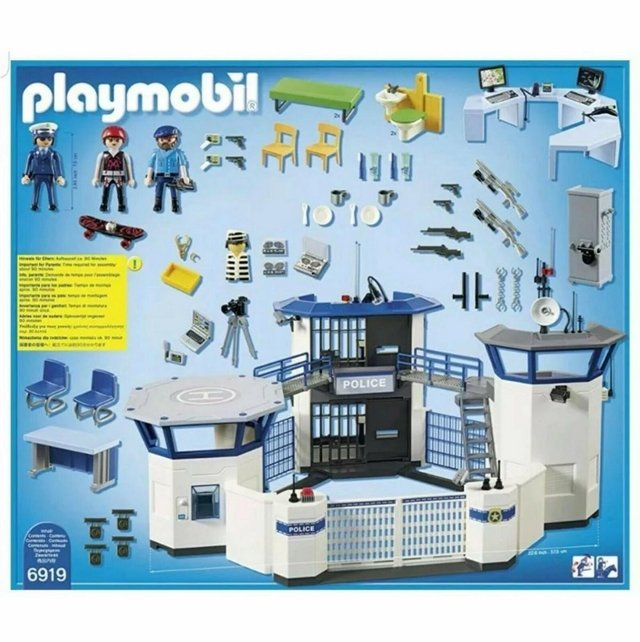 Preview of the first image of Playmobil 6919 City Action Police Headquarters with Prison.