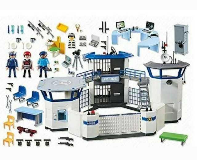 Image 5 of Playmobil 6919 City Action Police Headquarters with Prison