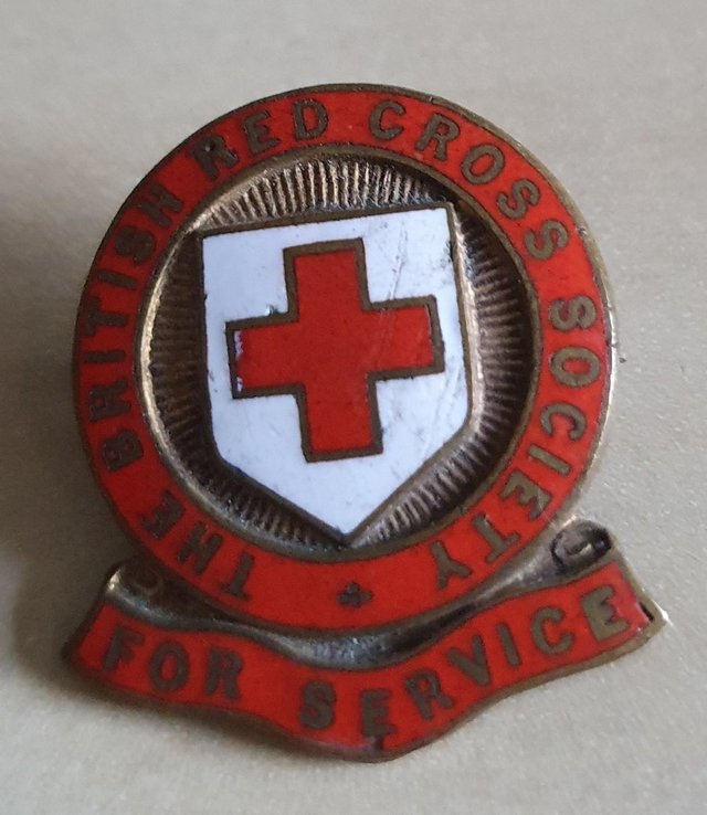 Preview of the first image of Vintage Red Cross Service Badge.