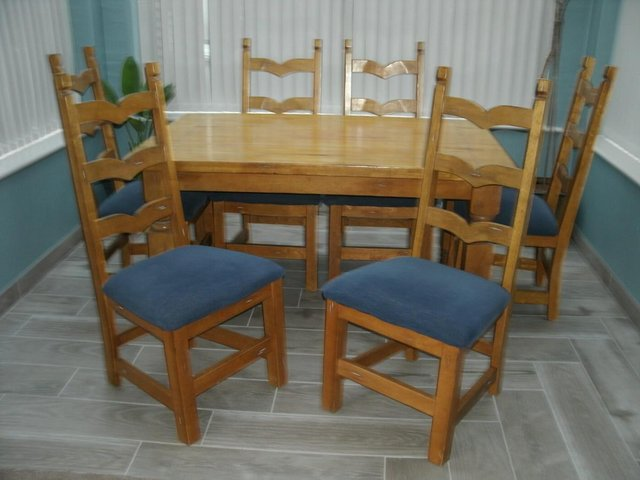 Image 2 of dining table with chairs