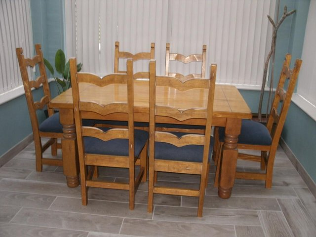 Image 3 of dining table with chairs