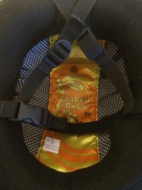 Image 3 of CHILDS CHARLES & OWEN SKULL RIDING HAT & COVER SIZE 6 3/8