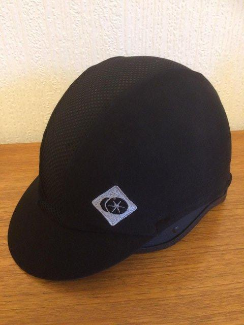 Preview of the first image of CHILDS CHARLES & OWEN SKULL RIDING HAT & COVER SIZE 6 3/8.