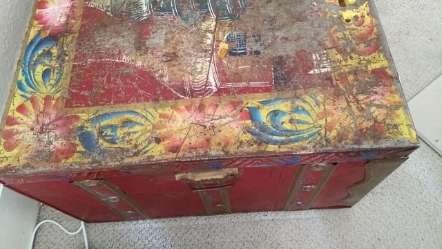 Image 2 of Traditional Painted Trunk from Asia