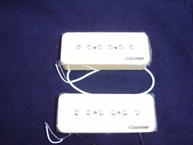 Preview of the first image of warman p90 soap bar pickups matched pair.