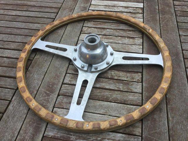 Image 2 of Mini Cooper S steering wheel original 1960s