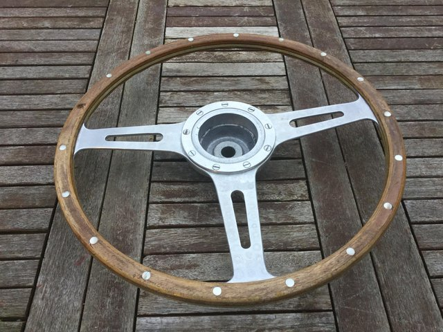 Preview of the first image of Mini Cooper S steering wheel original 1960s.