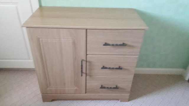 Preview of the first image of OAK EFFECT SIDEBOARD.
